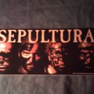 SEPULTURA STICKER tribal band faces BIG!
