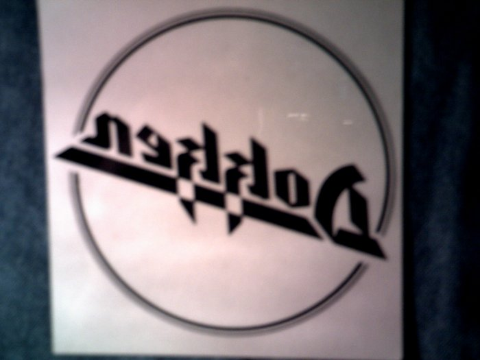 DOKKEN STICKER logo clear decal