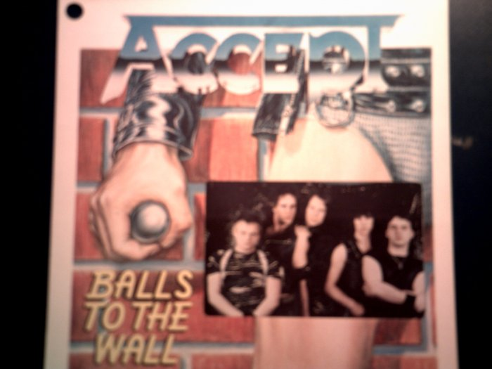ACCEPT STICKER Balls to the Wall udo VINTAGE