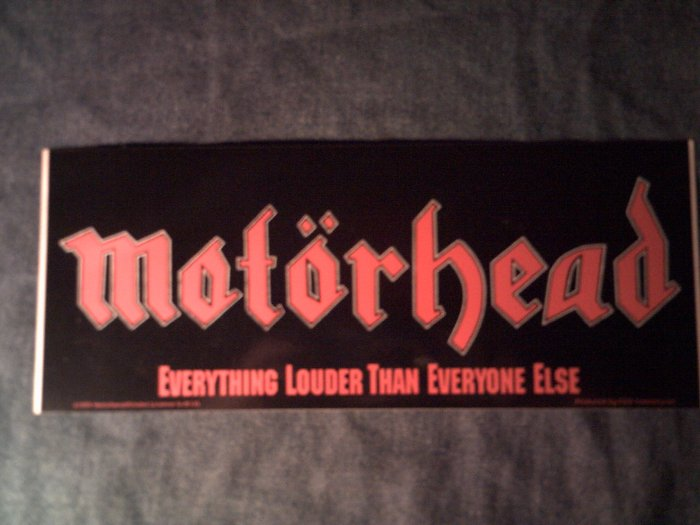 MOTORHEAD STICKER Everything Louder Than Everything Else