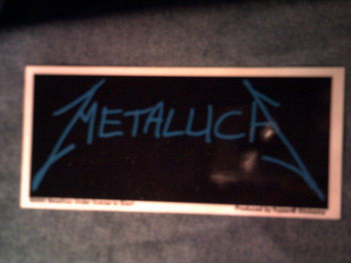 METALLICA STICKER blue logo NEW!