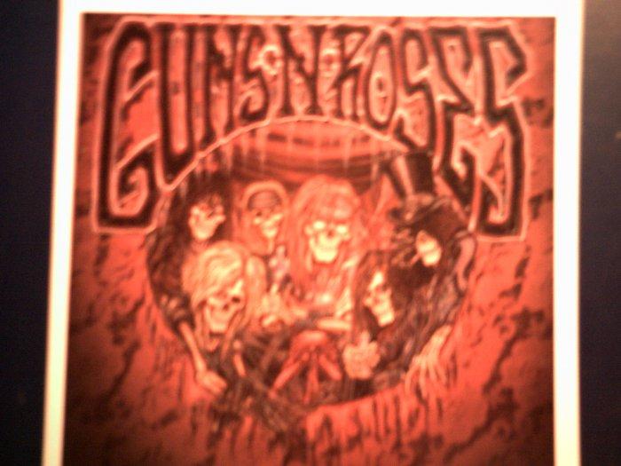 GUNS N ROSES STICKER skeleton band art