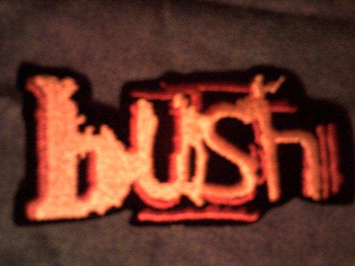 BUSH iron-on PATCH Razorblade Suitcase logo VINTAGE 90s