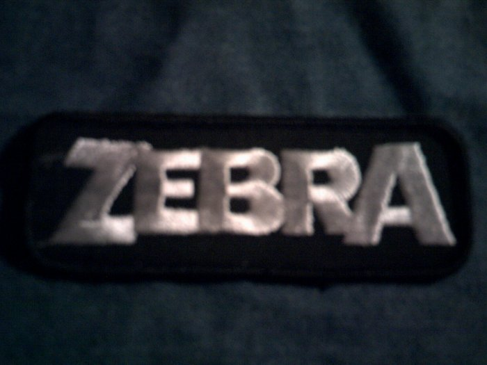 ZEBRA iron-on PATCH logo randy jackson VINTAGE 80s