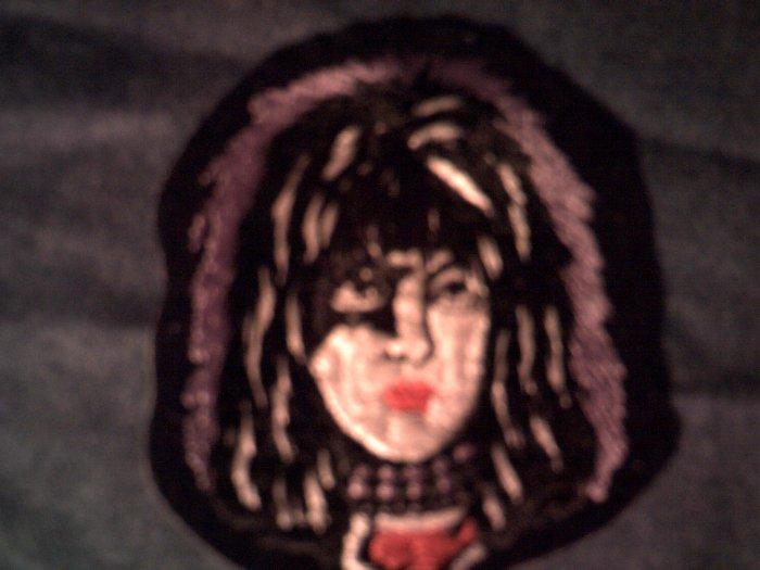 KISS iron-on PATCH Paul Stanley face purple VINTAGE 80s!