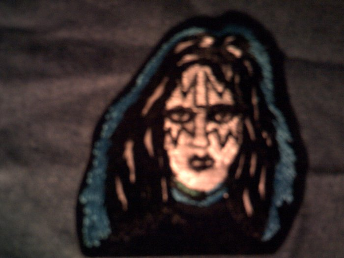 KISS iron-on PATCH Ace Frehley face blue VINTAGE 80s!