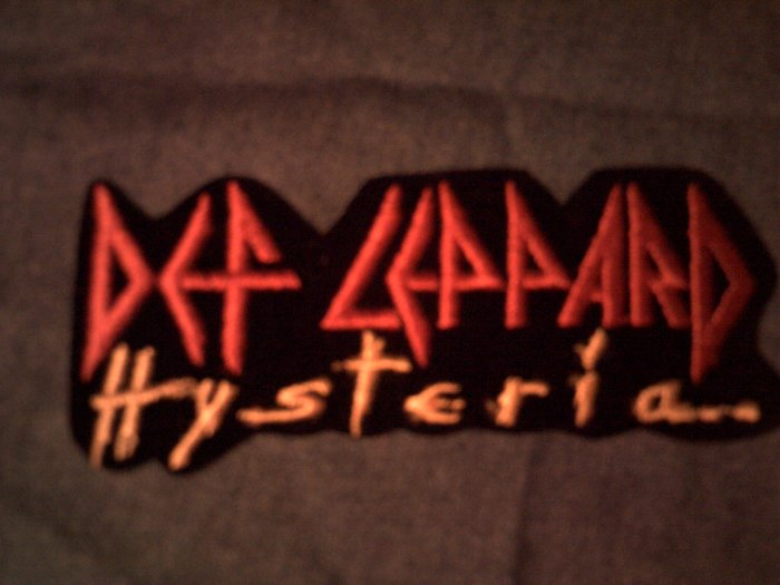 DEF LEPPARD iron-on PATCH Hysteria logo VINTAGE 80s