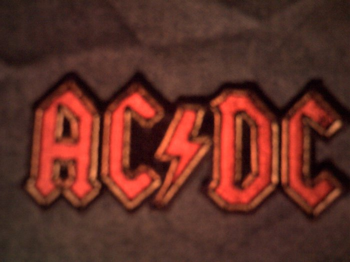 AC/DC iron-on PATCH red logo acdc NEW!