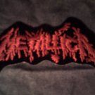 METALLICA iron-on PATCH red splatter logo VINTAGE
