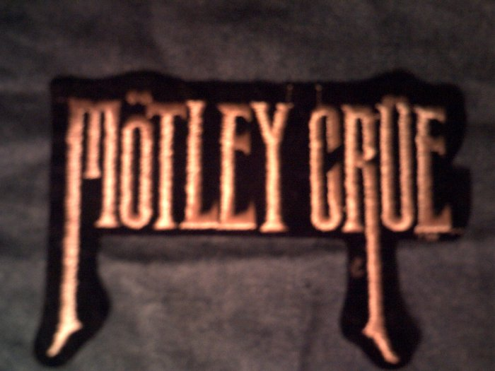 MOTLEY CRUE iron-on PATCH tall logo VINTAGE