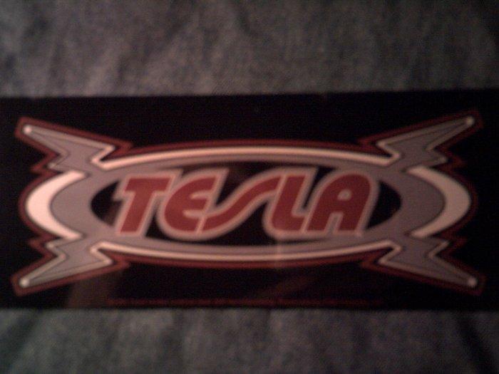 TESLA STICKER lightning logo HTF