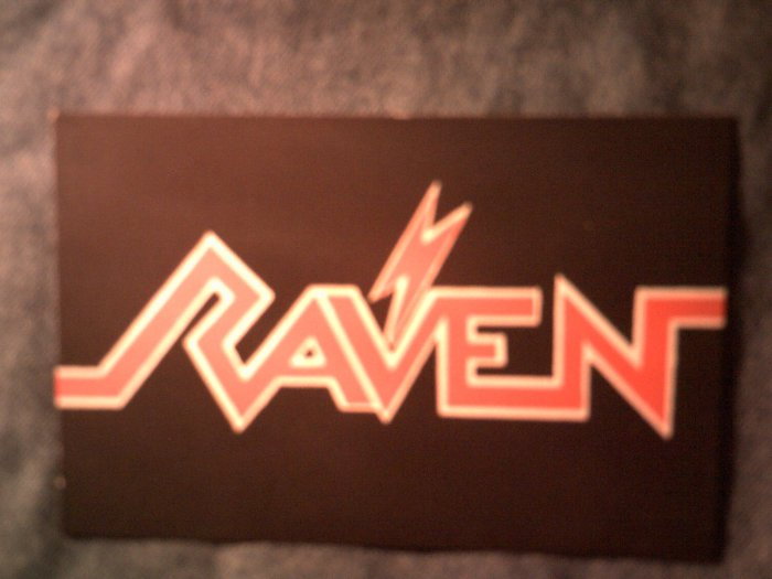 RAVEN STICKER red logo VINTAGE