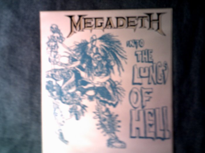 MEGADETH STICKER Into the Lungs of Hell VINTAGE