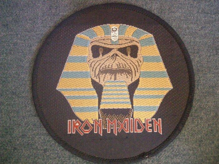 IRON MAIDEN sew-on PATCH Powerslave round VINTAGE