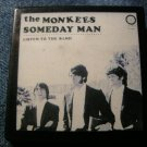 THE MONKEES PINBACK BUTTON Someday Man album art square VINTAGE 80s!