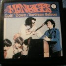 THE MONKEES PINBACK BUTTON Goin Down/Daydream Believer album art square VINTAGE 80s!