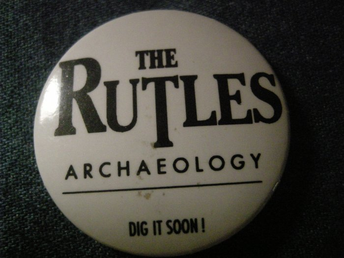THE RUTLES PINBACK BUTTON Archaeology monty python beatles PROMO SALE