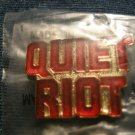 QUIET RIOT TACK PIN red logo button VINTAGE 80s!