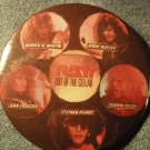 RATT PINBACK BUTTON Out of the Cellar band pics VINTAGE SALE