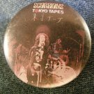 SCORPIONS PINBACK BUTTON Tokyo Tapes VINTAGE