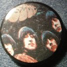 THE BEATLES PINBACK BUTTON Rubber Soul VINTAGE 80s!