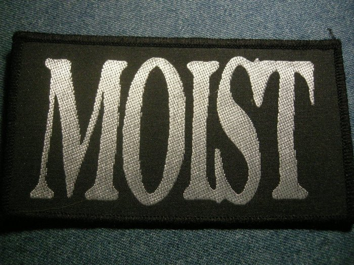 MOIST sew-on PATCH silver logo VINTAGE