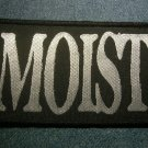 MOIST sew-on PATCH silver logo VINTAGE