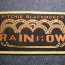 RITCHIE BLACKMORE'S RAINBOW sew-on PATCH yellow logo VINTAGE