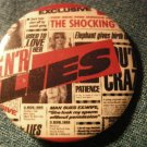 GUNS N ROSES PINBACK BUTTON Lies album art used to love her