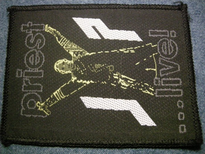 JUDAS PRIEST sew-on PATCH jp live rob halford VINTAGE