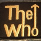 THE WHO iron-on PATCH yellow logo square VINTAGE