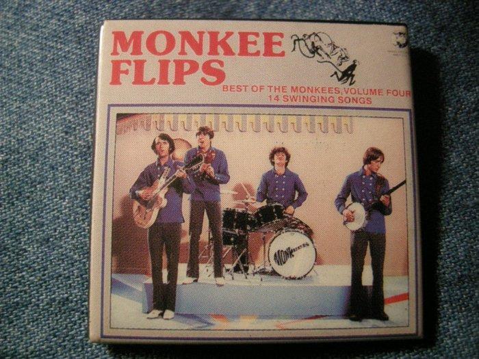 THE MONKEES PINBACK BUTTON Best Of Vol 4 album art square VINTAGE 80s!