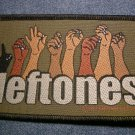DEFTONES sew-on PATCH sign language logo IMPORT