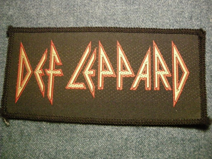 DEF LEPPARD sew-on PATCH classic logo VINTAGE