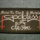 GODDESS OF DESIRE sew-on PATCH Metal to the Metals IMPORT