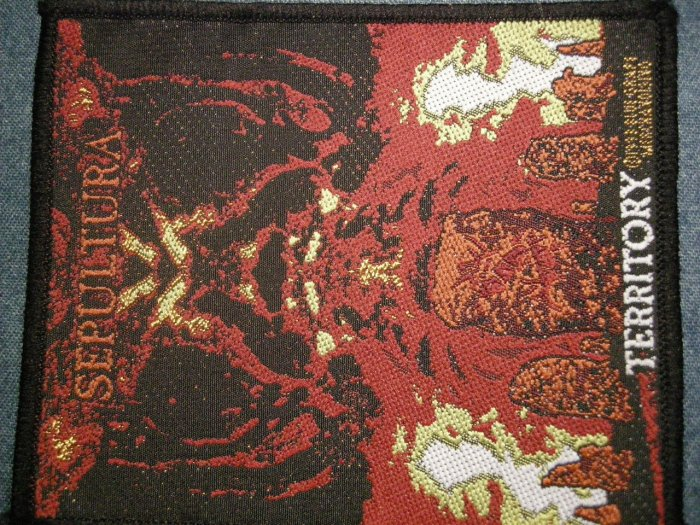 SEPULTURA sew-on PATCH Territory album art VINTAGE