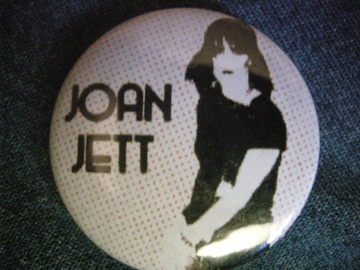 JOAN JETT PINBACK BUTTON blackhearts runaways HTF!