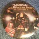 WHITESNAKE PINBACK BUTTON Live In The Heart Of The City VINTAGE