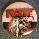 RATT PINBACK BUTTON electric rat logo VINTAGE