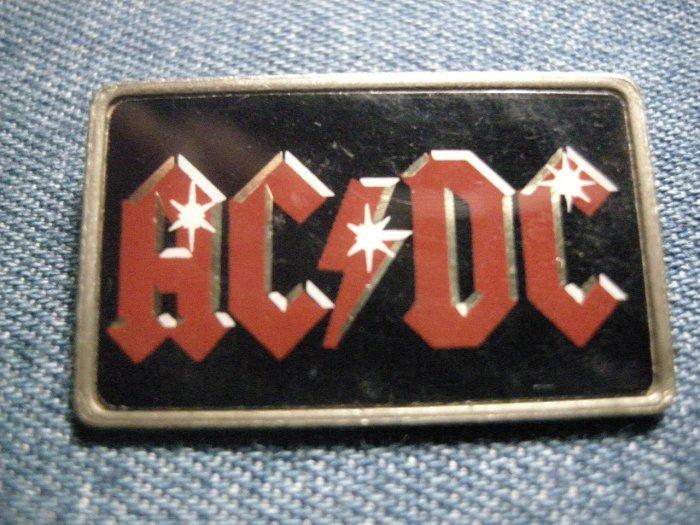 AC/DC PINBACK BUTTON red logo acdc VINTAGE