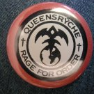 QUEENSRYCHE PINBACK BUTTON Rage For Order HTF!