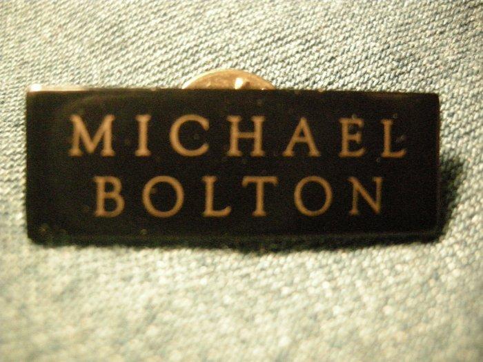 MICHAEL BOLTON TACK PIN logo button VINTAGE