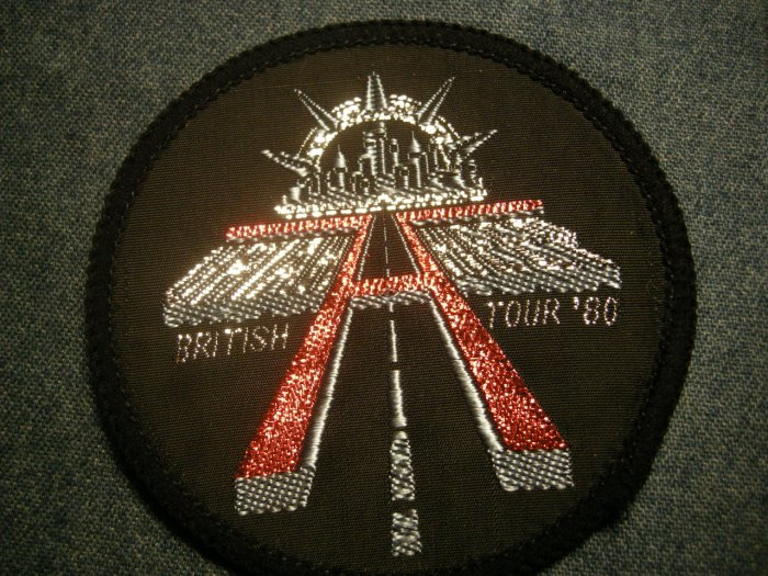 URIAH HEEP sew-on PATCH British Tour 1980 VINTAGE