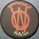 WRATHCHILD U.K. sew-on PATCH Bizz Suxx logo round uk VINTAGE