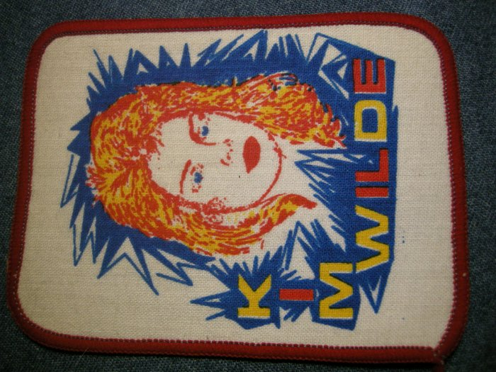 KIM WILDE sew-on PATCH color pic VINTAGE 80s!