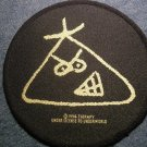 THERAPY? sew-on PATCH pinhead logo round VINTAGE