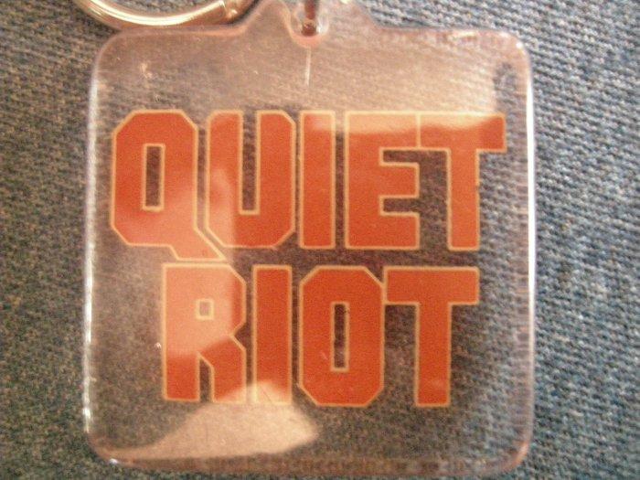 QUIET RIOT KEYCHAIN red logo key chain VINTAGE