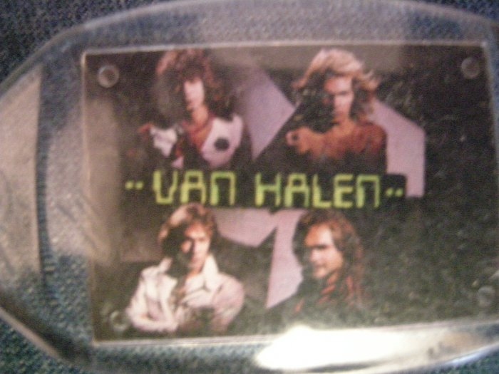 VAN HALEN KEYCHAIN color band pics david lee roth key chain VINTAGE 80's!