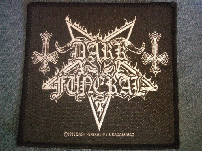 DARK FUNERAL sew-on PATCH death metal IMPORT