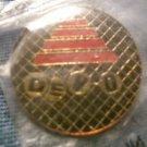 DEVO PINBACK BUTTON hat logo VINTAGE